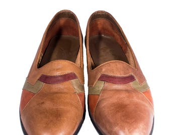 Vintage Giorgio Brutini Brown Leather Mens Shoes
