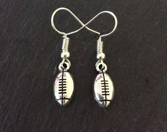 Football earrings / football jewellery / football gift / sports earrings / sports jewellery / sports gift