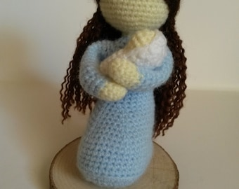 Mary and Jesus crochet