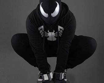 Mask symbiosis Spider-man / Spider-man Suit symbiosis / Web Shooter / Mask /