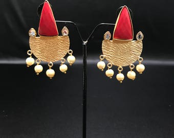 Indian Earrings - Bollywood Earrings - Indian Jewelry - Bollywood Jewelry - Pakistani Jewelry - Pakistani Earrings - South Indian Jewelry -