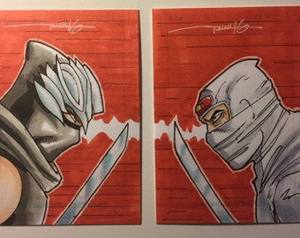 Ryu (Ninja Gaiden) vs Shinobi Sketch Card Dual Pack
