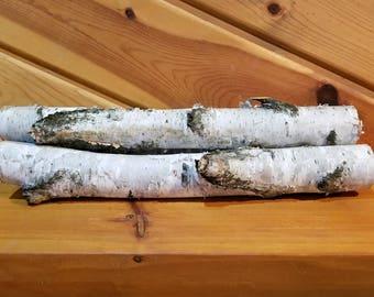 White Birch Logs, 18 Inch Wood Logs, Fireplace Decor, Home Decor, Holiday Decor. Winter Decor