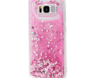 Glitter case fit for Samsung | Liquid Glitter case | Samsung S8 case | Samsung case Glitter | Samsung S8 Plus case |Sparkly S8 case| Bling