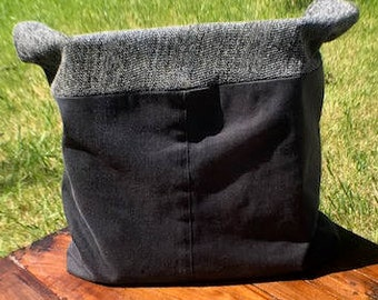 Heathered Grey Tote Bag - Market Bag - Beach Bag - Book Bag