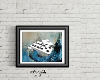 Domino abstract Art Print