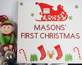Personalised First Christmas Box