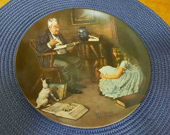 Collectable Norman Rockwell Plates | The Storyteller and Dreaming in the Attic