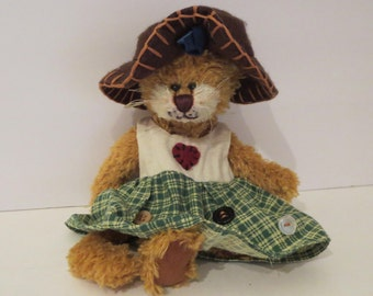 "6"" Cottage Collectibles Stuffed Cat By Ganz"