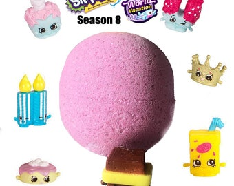 1 XL Shopkins SEASON 8 World Vacation SURPRISE Bath Bomb!
