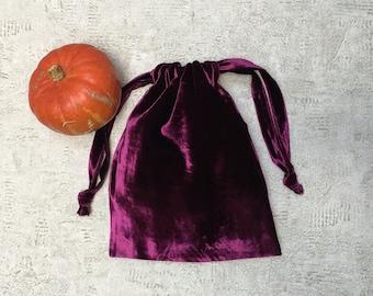 smallbag smooth plum silk velvet - cotton blended bag