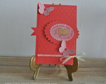Wedding card - Valentine's day - wedding congratulations - card love with a large A