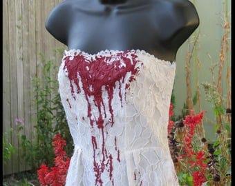 Vampire Costume Bloody Bride Zombie Bride Size 6