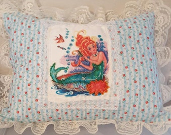 Red-Headed Mermaid Pillow