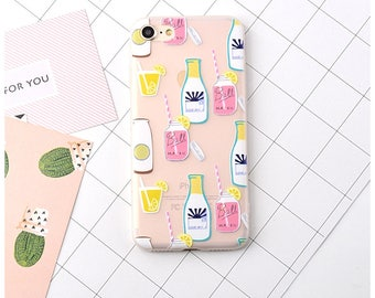 lemonade phone case , mason jar, summer , drinks, beach vibe , iphone 6, iphone 6 plus, iphone 7, iphone 7 plus