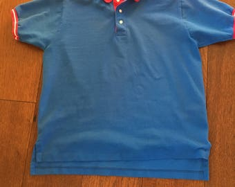 Pendleton Polo 90's Pendleton Lobo Polo Shirt Color Block 90's Basic Size Medium