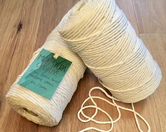 Natural 3.5mm Single Twist Macrame String- 1kg Roll, Macrame Cotton, Macrame Cord, Macrame Rope