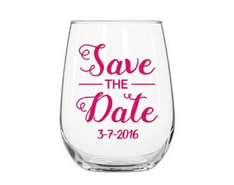 Save the Date Decal, Wedding Date Decal,  Wedding Date, Custom Wedding Decal, Save the Date Sticker, Bridal Shower Decal, Wedding Date Decal