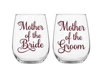 Mother of the Bride Decal, Mother of the Groom Decal, DIY Wedding Favors, Mother of the Bride Gift, Mother of the Groom Gift, Wedding Cups