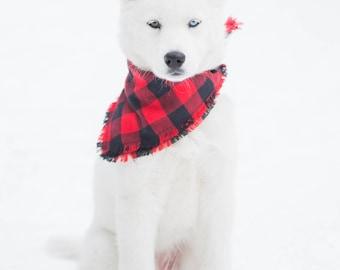 BUFFALO PLAID | Dog Bandana,Buffalo Plaid, Fall Bandana, Dog Mom,
