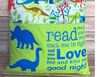 Children's Reading Pillow/Pillow pocket
