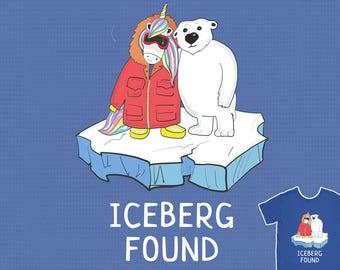 Antarctica Iceberg Found - Funny Unicorn Ma and Polar Bear T-Shirt Stop Global Warming