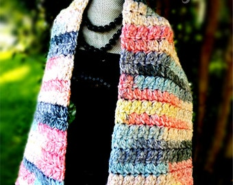 Cluster Crocheted Scarf