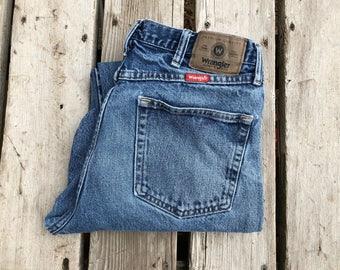 "Wrangler 34"" Medium Wash Vintage High Waist Jeans"
