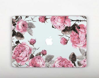 Pink Flowers Laptop Skin Decal Macbook Pro Retina 13 Vinyl Laptop Sticker Decal Mac Pro 12 Skin Macbook Pro 15 2016 Decal Vinyl Cover RS112