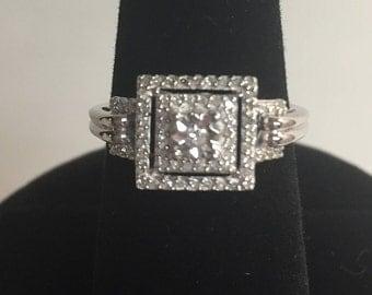 Vintage Diamond Ring, Statement Ring, Art Deco Ring, Vintage Ring, Diamond Halo, Engagement Ring, Anniversary Ring, Estate Diamond Ring