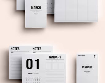 Pocket TN Insert | January - March | Printable daily to do | Daily Planner | WO4P | Fits EC Stickers | Travelers Notebook Insert