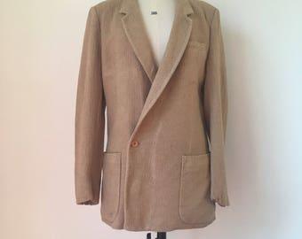 Vintage 1950s Menswear Jacket/Blazer in Raffia-like Wool, Sz S