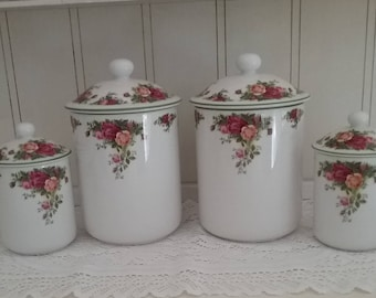 Royal Albert/ Canisters/Old Country Roses