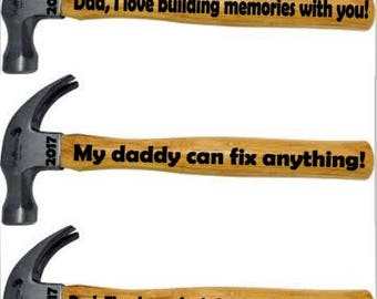 FATHER DAY HAMMER, childs handwritting can be added, fathers day gift