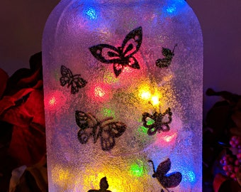 Butterfly LED Mason Jar Light