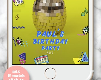 80's Birthday Snapchat Filter, 80's Party Snapchat Filter, Birthday Snapchat Filter, 30th birthday for her, Snapchat Filter, 21st Birthday