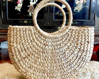 Newest Large Handwoven Straw Bag,Straw Beach Tote,Straw Handbag,Straw Bag,Beach Basket,Basket Purse,Straw Summer Market Bag,Straw Bag Basket