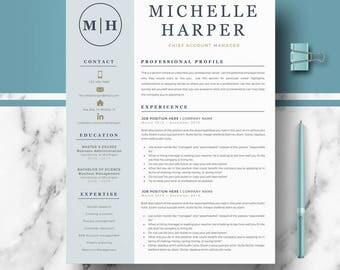 Professional and Modern Resume Template for Word | Creative Resume Design | CV Template for Word | Professional CV | Instant Download resume