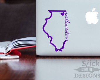 Northwestern University Permanent & Custom State Vinyl Decal