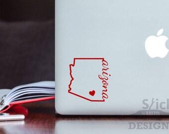 University of Arizona Permanent & Custom State Vinyl Decal (Solid Style)