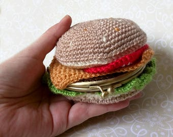 Purse crochet hamburger / crochet purse