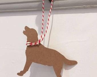 Labrador Gift Tag/Christmas - PACK OF FIVE