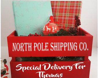 Christmas eve crate, Christmas Box - Xmas eve, Special gift, Christmas gift, family tradition, crate, Christmas,