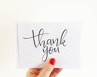 Thank You Card, Thanks, Blank Card, Greeting Card