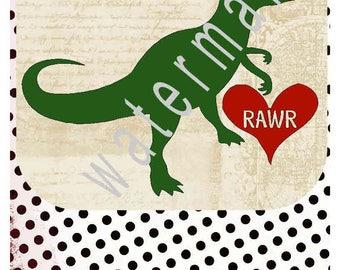 Dinosaur svg Rawr shirt silhouette cameo cricut dxf eps Valentines day T shirt iron on transfer JPEG Valentine svg Dinosaur valentine svg