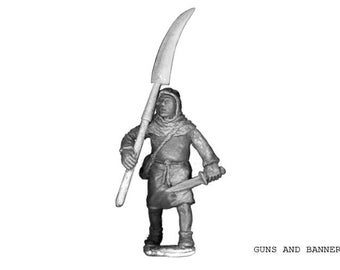 Peasant With Scythe. 28 mm Crusade