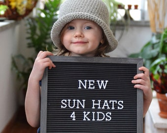 Easter Hats for Kids, Easter Gifts for Kids, Organic Cotton Sun Hats, Beach Hats, Baby Hats