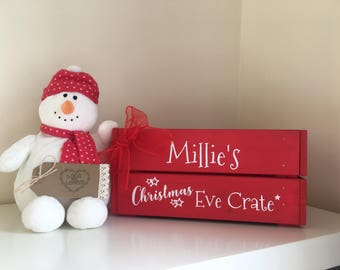 Personalised Christmas Eve crate, Christmas Eve box, Family Christmas Eve box