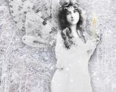 Candle Fairy. Greetings card. Art card. Romany soup.