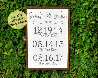 Bride Gift from Groom, Wedding Day Gift for Bride, Wedding Gift from Groom to Bride, The First Day, The Yes Day, The Best Day, Wedding Gifts